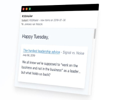 Briefcake — RSS reader for your email